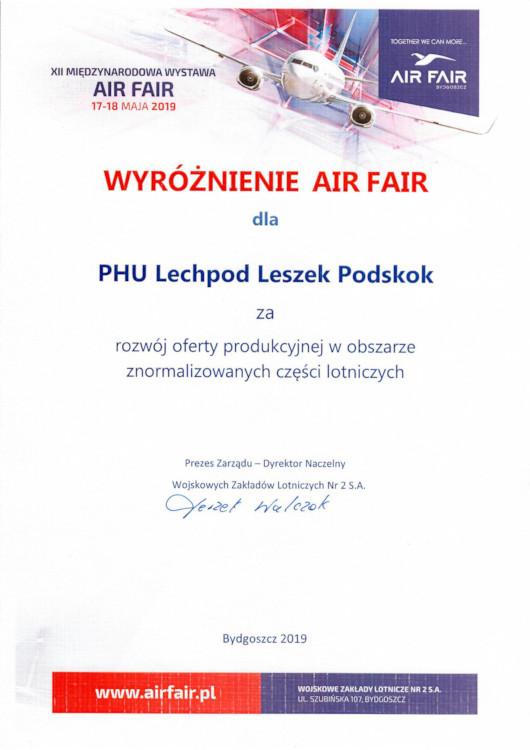 lechpod 2019 air fair wyróżnienie